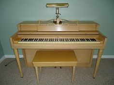 Wurlitzer Spinet Console Piano~this is our piano-M~