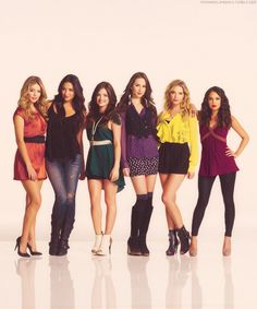 Sasha Pieterse. Shay Mitchell. Lucy Hale. Troian Bellisario. Ashley Benson.  Janel Parrish.