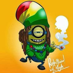 Rasta Minion Marijuana Art - CannabisTutorials.com
