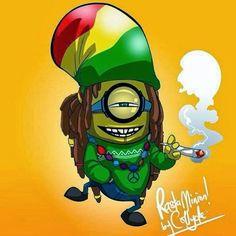 Rasta Minion Marijuana Art - CannabisTutorials.com