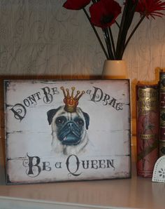 Fawn Pug Dog Sign / Print / Plaque / Wall Art / Picture / Living Room Art | eBay