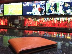 The is back in action! We were watching Sunday's games. Happy with your favorite team's performance on Slim Leather Wallet, Slim Wallet, Italian Leather, Are You Happy, Your Favorite, Nfl, Action, Iphone, Games