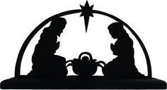 Nativity Scene Decorative Display Silhouette Great Christmas Display SREL002 | eBay