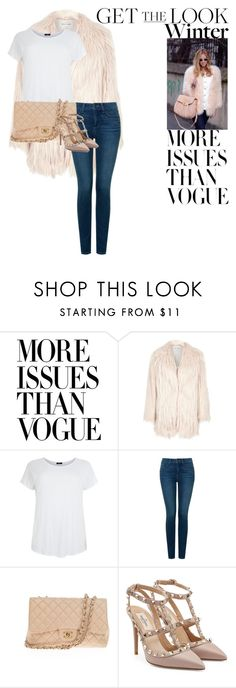 """Get the Look"" by natasha-bozjic ❤ liked on Polyvore featuring Printable Wisdom, NYDJ, Chanel and Valentino"