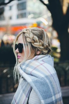 Dainty braided up-do.