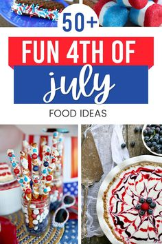 Festive & patriotic red, white, and blue food ideas for the 4th of July Fourth Of July Food, 4th Of July, Let Freedom Ring, Blue Food, Patriotic Party, Family Traditions, Party Snacks, Memorial Day, Festive