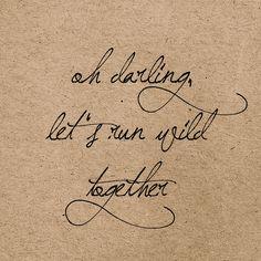 Oh Darling Art Print - pretty handwriting!