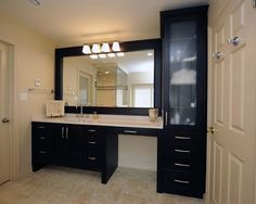 bathroom single unit sink countertop with side makeup - Google Search