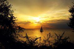 Sunset in the Dalmatian coast