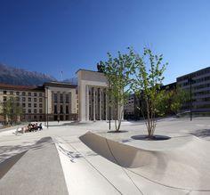Eduard Wallnöfer Platz / Landhausplatz in Innsbruck «  Landscape Architecture Works | Landezine