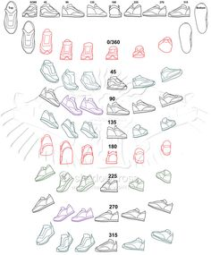 Shoe Study Angle Chart by Shadowcross on deviantART. How do feet look with shoes at various angles
