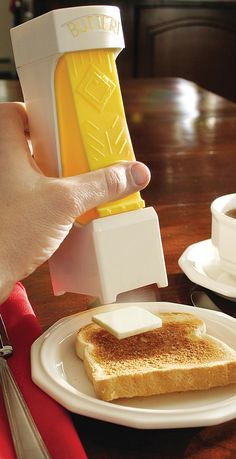 OMG - One-click butter cutter! Awesome for portion control #product_design