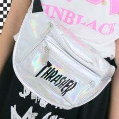thrasher fanny pack| use the codeokaywowcool for 10% off at harajuku alien!  cyber grunge cyber punk cyber goth net punk space grunge fachin fanny pack bag accessories holographic storenvy discount harajuku alien