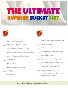 Free Printable: Boys' Summer Bucket List - Spaceships and Laser Beams