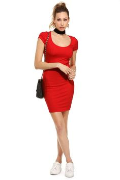 Red Tell Me More Dress | WindsorCloud