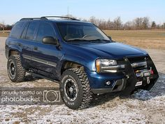 I wonder how Klara would feel about me doing this to my new Trailblazer. 2008 Chevy Trailblazer, Lifted Chevy Trucks, Gm Trucks, Tactical Truck, Grill Guard, Gmc Envoy, Chevy Girl, Bug Out Vehicle, Chevrolet Malibu