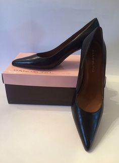 Bandolino Black Leather Women's Heels Size 9 #Bandolino #PumpsClassics #WeartoWork