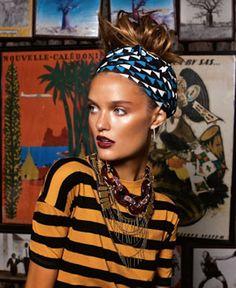 Funky head scarf style
