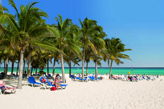 The beach of Hotel RIU Palace #RivieraMaya #pickyourparadise