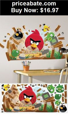 Kids At Home: New Large ANGRY BIRDS WALL DECALS Giant Bedroom Stickers Kids