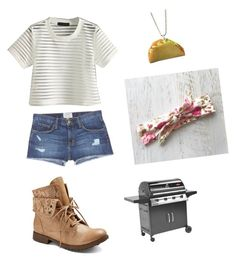 """""""barbecue"""" by marilyng341 ❤ liked on Polyvore featuring Current/Elliott"""