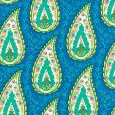 Summer House Bright Blue 11444 Moda Fabric by NicoleAnnesFabrics