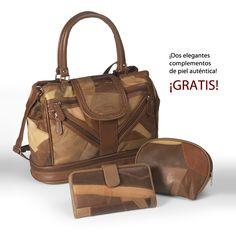 Bolso Roma. Un elegante y práctico bolso de piel auténtica a un precio increíble