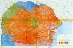 The ethnographic map of Romania 1919 Historical Maps, Beautiful Places, Diagram, History, Abstract, World, Cnc, Artwork, Painting