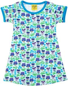 Violet Short Sleeve Dress for summer. The perfect toddler girls summer dress. Organic cotton, ethically made, and best of all comfortable to allow kids to play and look good. Kids Outfits Girls, Toddler Outfits, Toddler Girls, Blue Long Sleeve Shirt, Short Sleeve Dresses, Eco Friendly Fashion, Made Clothing, Cool Shirts, Kids Fashion