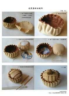 Alfiletero de fieltro con forma de cupcake