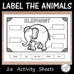 A set of 26 zoo animals to label. Perfect for an animal study or as an activity pre/post a field trip to the zoo. Options: ♦ Cut and glue the labels into the correct boxes. ♦ Use the word bank to write the words into the correct boxes. The 26 Animals: Classroom Resources, Teacher Resources, Pre And Post, Word Study, Activity Sheets, Teaching Materials, Best Teacher, Zoo Animals, Student Learning