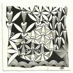 (c)2014 Margaret Bremner; enthusiasticartist.blogspot.com Tangles: Black Pearlz, Bugles, Crescent Moon, Fife, Munchin