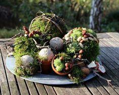 dekoidee moos - New Sites Deco Floral, Floral Design, Farmhouse Lighting, Creative Decor, Garden Art, Floral Arrangements, Fall Decor, Diy And Crafts, Succulents