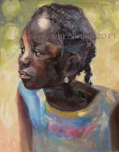 Portrait of a Girl Impressionistic Oil by Olivyea Danielle