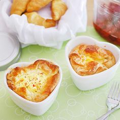 The copycat recipe for Panera Bread's famous Ham & Swiss Baked Egg Souffles - a great start to your weekend!