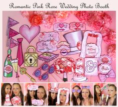 Romantic Pink Rose and Peony wedding Photo Booth Props perfect for your unforgettable day and the wedding of your dreams (29 props) #Pink #Wedding #PinkWedding #Paper
