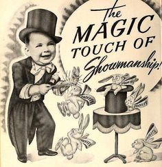Vintage Magic Poster  Magic Touch of Showmanship and profits