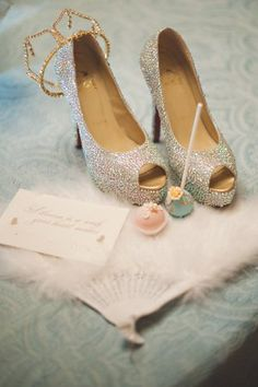 Pin for Later: How to Throw a Fairy-Tale Wedding Fit For a Princess Cinderella's Glass Slippers Source: Bethann Greenberg Photography via Wedding Chicks Wedding Shoes, Dream Wedding, Magical Wedding, Gold Wedding, Wedding Dresses, Touch Love, Cinderella Wedding, Cinderella Theme, Princess Wedding