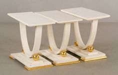 3 Modern End Tables : Lot 9158