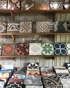 "223 Likes, 5 Comments - Antique and Encaustic Tiles (@jatanainteriors) on Instagram: ""Forever rearranging shelves. #showroom #encaustictiles #handmadetiles #cementtiles #glazedtiles…"""