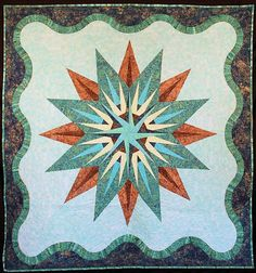 Vintage Compass, Quiltworx.com, Made by CI Eileen Urbanek.