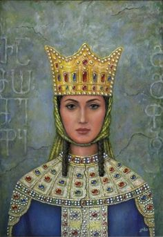Tamar the Great of Georgia. (1160-1213). Queen Regnant of Georgia; her reign brought on the Georgian golden age. Her first husband tried to overthrow her, so she divorced and expelled him from Georgia, then proceeded to found the Empire of Trezibond. After getting remarried, she went on lots and lots of military campaigns, bringing most of the neighboring states to their knees. Modern Georgian heroine.