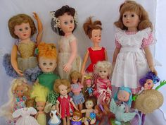 vintage dolls.still have his bride doll, but she's missing those earrings