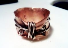 RESERVED LISTING Thumb ring in copper by AndreaDurhamDesigns