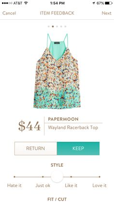 Papermoon Wayland Racerback Top. I love Stitch Fix! Personalized styling service and it's amazing!! Fill out a style profile with sizing and preferences. Then your very own stylist selects 5 pieces to send to you to try out at home. Keep what you love and return what you don't. Try it out using the link! #stitchfix @stitchfix. Stitchfix Spring 2016. Stitchfix Summer 2016. https://www.stitchfix.com/referral/5634870.