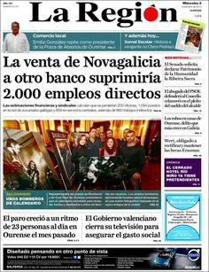 Los Titulares y Portadas de Noticias Destacadas Españolas del 6 de Noviembre de 2013 del Diario La Región ¿Que le pareció esta Portada de este Diario Español?