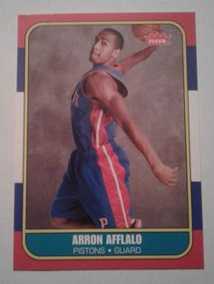 2007-08 FLEER 86 RETRO ARRON AFFLALO ROOKIE CARD # 86R-133  #DetroitPistons