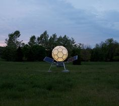 Artlog- Spencer Finch's installation at Storm King replicates the exact color of the July 2011 full moon over Chicago. Spencer Finch, Storm King Art Center, Light Emitting Diode, What Time Is, Public Art, Solar Panels, Display, Landscape, Full Moon