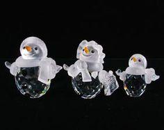 Swarovski Crystal 3 Snowman