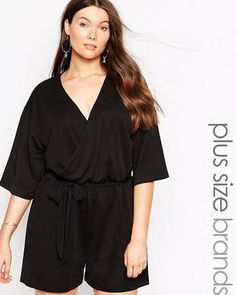 ececaaa71be72 plus size rompers - Google Search Wrap Playsuit